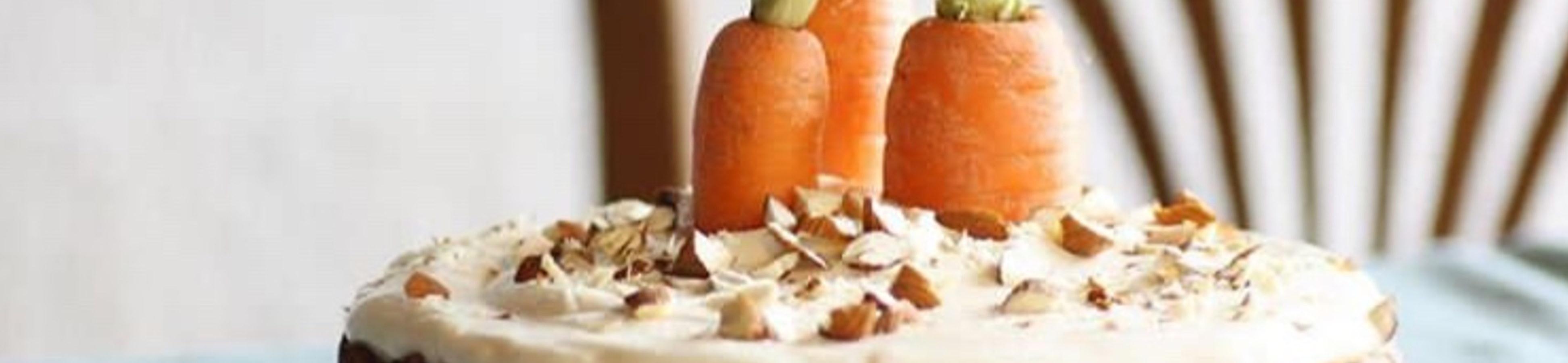 Karottenkuchen mit Honig Frosting