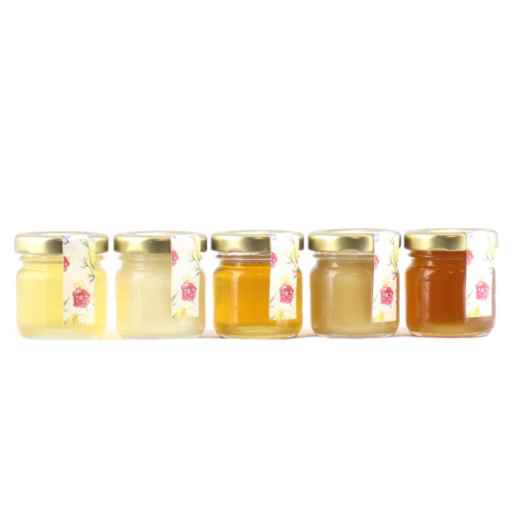 5er Honig Probierset cremig und flüssig